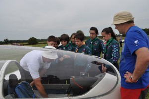 Evening flying experience for local scouts