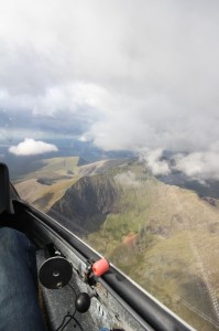 The Mountains of Wales seen from an LS4 glider