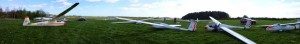 A glider panorama on the field