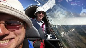 Miek and Rob enjoying a soaring flight across country