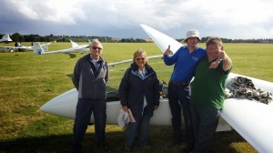 A lovely picture of Pauline, John (RIP) Mike and Nick at Cosford