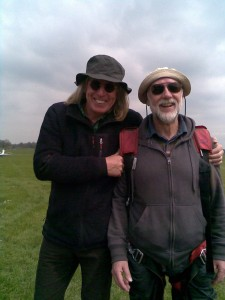 Dave Knibbs and Malcolm Taylor enjoying a moment